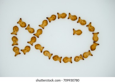 Cookies in the form of small fish