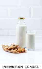 Cookies with glass of milk