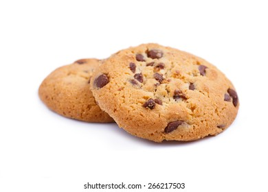 Cookies isolated on a white background.