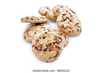 Cookies isolated over white background