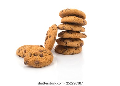 cookies on the white background