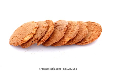 cookies   on white background,