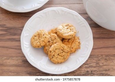 Cookies on the white plate