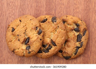 cookies on wooden background