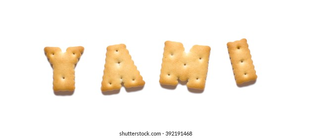 Cookies in the shape of letters.