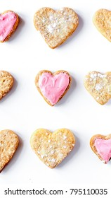 cookies for Valentine Day heartshaped on white background top vi
