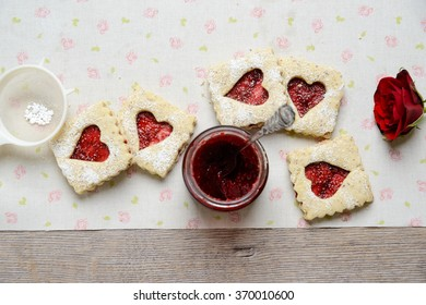 cookies for valentines or mothers day with a rose