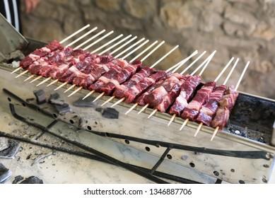 Cooking Abruzzesi arrosticini