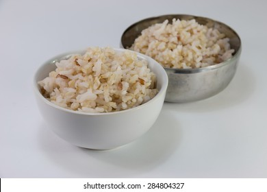 Cooking brown rice ready for eat