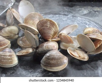 cooking clams at BBQ