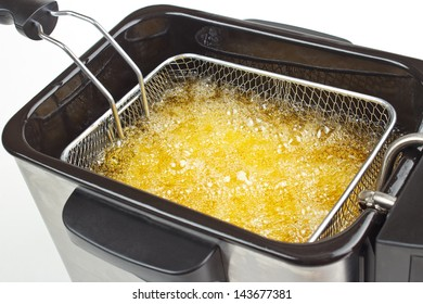 Cooking french fries in deep fryer