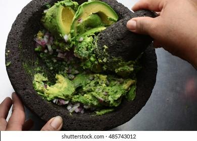 Cooking guacamole