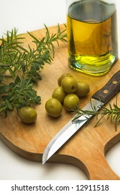 cooking herbs and olive oil