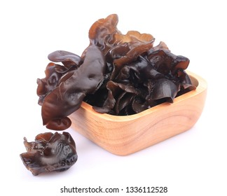 Cooking ingredient series black fungus. for adv etc. of restaurant,grocery,and others on a white background