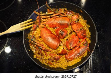 cooking lobster with rice