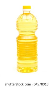 Cooking oil on  white background