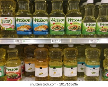 Cooking oil section at Publix Saint Augustine, Florida USA. February 4, 2018