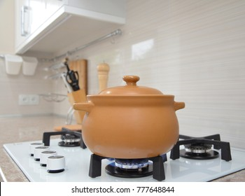 Cooking on a gas stove
