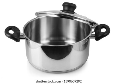 The cooking pan isolated on white background with clipping path