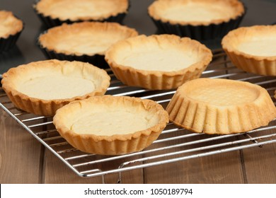 Cooking Process Of Tartlets. Baked Shortcrust Pastry