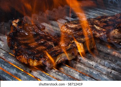 Cooking Steak on Fire