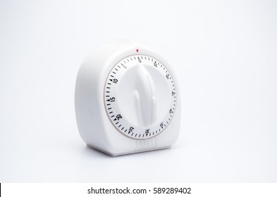 cooking timer kitchen clock alarm on white