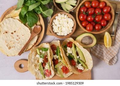 cooking vegan tacos, vegan tacos ingredients. vegan lentil tacos