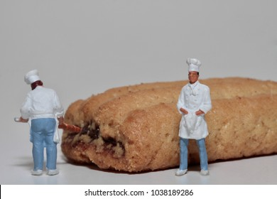 cooks in miniature with a fresh homemade cookie