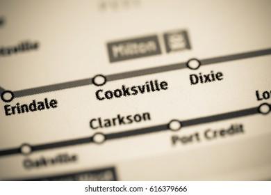 Cooksville Station. Toronto Metro map.