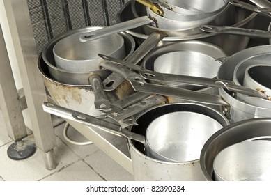 cookware in a kitchen restaurants
