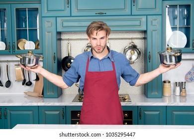 Cookware, tools, kitchenware. Cookware set, cooking pots, saucepans.