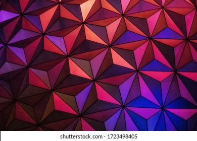 A cool background with colorful geometric shapes