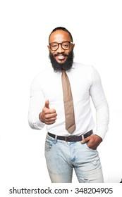 cool black man doing okay