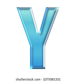 Glass letter y images stock photos vectors shutterstock cool blue glass letter y in a 3d illustration with a shiny glowing blue color glossy altavistaventures Images