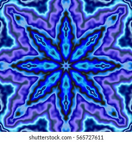 Cool blue and purple flower kaleidoscope.