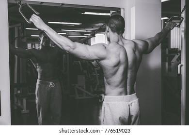 Cool bodybuilder in the gym