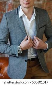 Cool businessman portrait