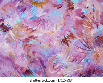 Cool Colors Background Abstract Painting