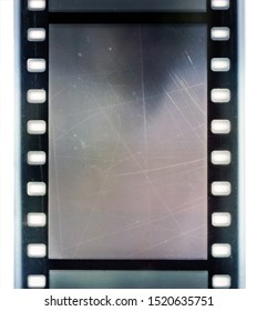 cool detail scan of scratched 35mm film strip