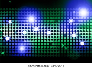 Cool disco background with colorful lights