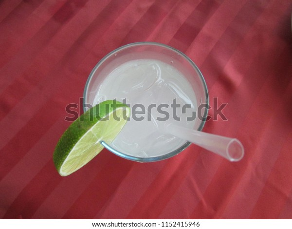 A cool drink with a slice of lime: Cancun, Mexico