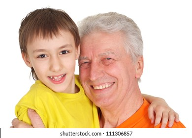 Cool family in bright T-shirts  on a white background