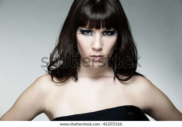 Cool Girl Attitude People Beauty Fashion Stock Image