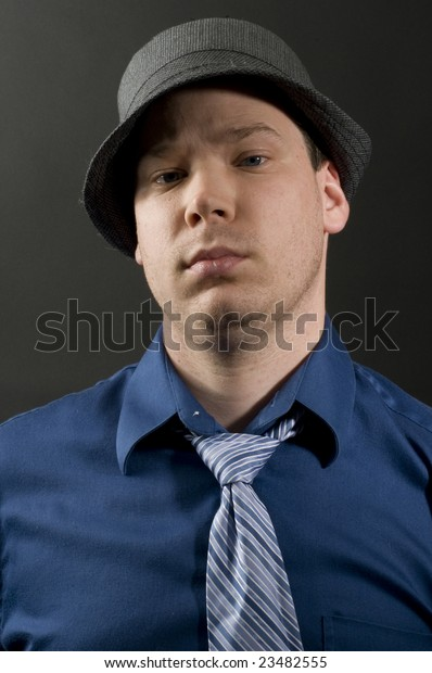 Cool Guy Fedora Tie Stock Photo Edit Now 23482555