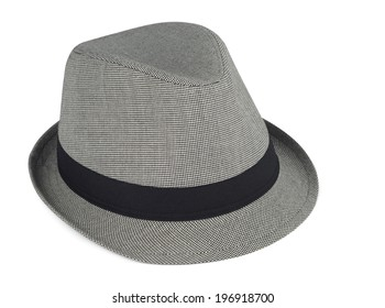 Cool hat isolated with clipping path over white background