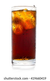 cool ice drink cola, hot heat day softdrink to fresh