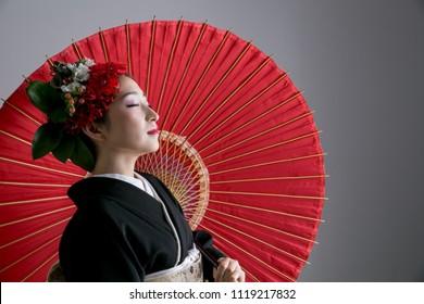 Cool kimono woman