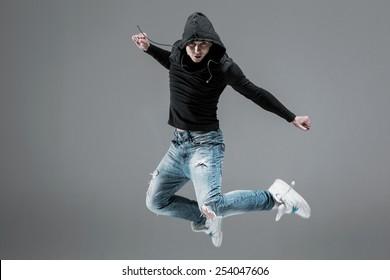 cool looking  dancer jump