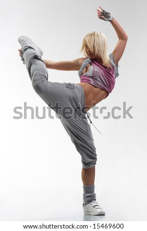 cool looking stylish hiphop dancer posing stock photo edit now