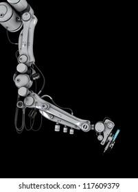 Cool medicine syringe tool / Futuristic robotic medicine equipment. 3d render